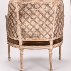 French Barrel Chair Custom Covers Near Me Cane Back At 1stdibs