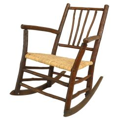 Old Fashioned Rocking Chairs Ikea Club Chair Covers Early 20th Century American Rustic Hickory