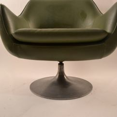 Swivel Pod Chair Green Office Chairs Overman At 1stdibs