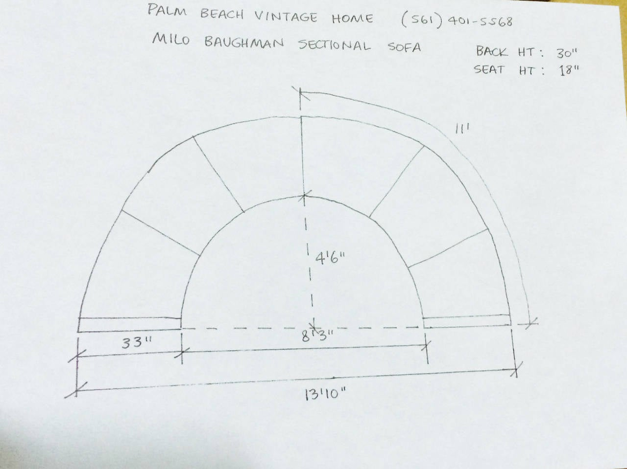 Milo Baughman Circular Sectional Sofa At 1stdibs