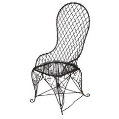 Black Wire Chair Folding Canvas Chairs Antique At 1stdibs