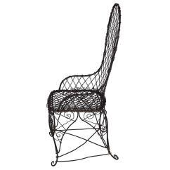 Black Wire Chair Folding Garden Chairs Aldi Antique At 1stdibs