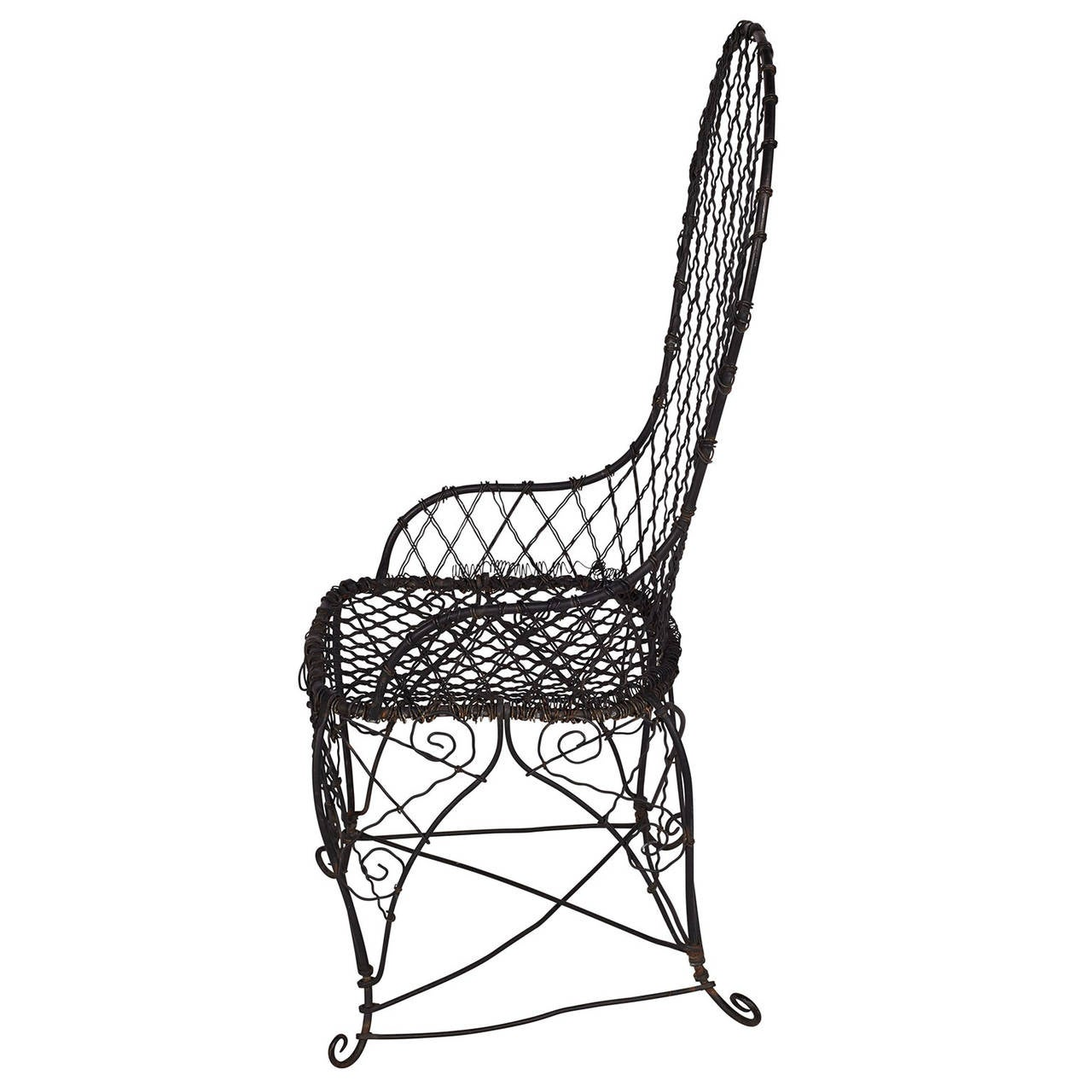 Black Wire Chair Antique Black Wire Chair At 1stdibs