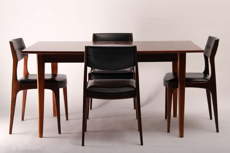Dining Table And Its Four Chairs Scandinavian Design From The 1960s At 1stdibs