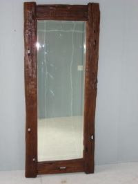 Rustic Wood Java Floor Mirror at 1stdibs