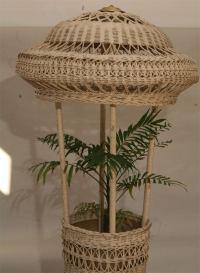 Wicker Floor Lamp/Fernery at 1stdibs