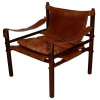 Arne Norell Leather Safari Chair at 1stdibs