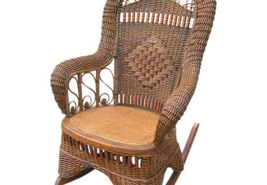 Antique Wicker Rocking Chair