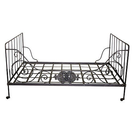 French 19th C. Wrought Iron Day Bed at 1stdibs