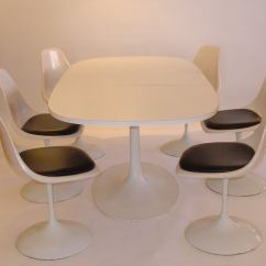 Tulip Table And Chairs How To Build Burke Saarinen Style Six At 1stdibs