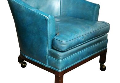 Turquoise Leather Chair