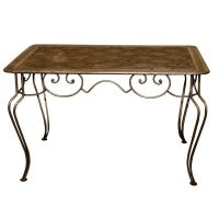 Mid-Century Painted Wrought iron and Sheet Metal Table at ...