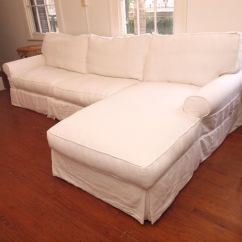 Belgian Linen Sofa Quick Ship Sofas Pottery Barn And Down Chaise At 1stdibs