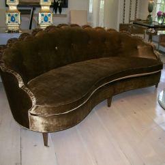 Hollywood Regency Curved Sofa Lazy Boy Pinnacle Reviews A Scalloped By Dorothy Draper At