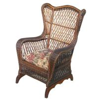 BAR HARBOR WICKER WING CHAIR at 1stdibs