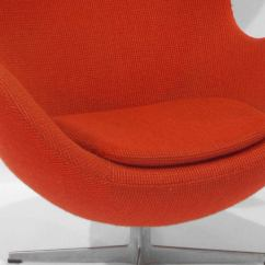 Swivel Chair Egg Wooden With Arms By Arne Jacobsen At 1stdibs
