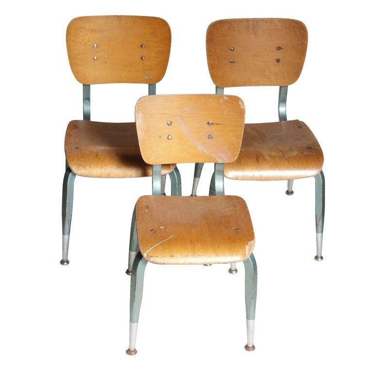 Vintage School Chairs at 1stdibs