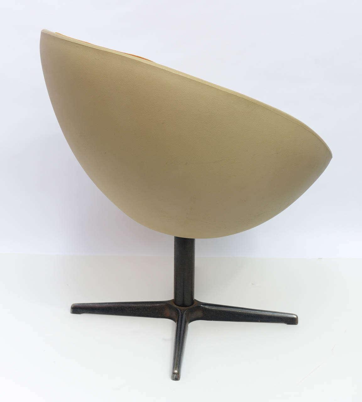 egg desk chair swivel base for recliner 1960s ball at 1stdibs
