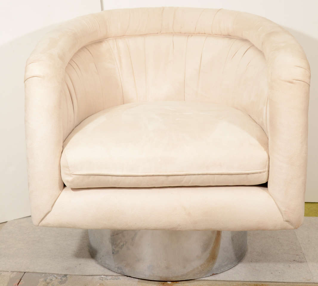 swivel chair leons best seat cushion for office pair of tub lounge chairs by leon rosen pace
