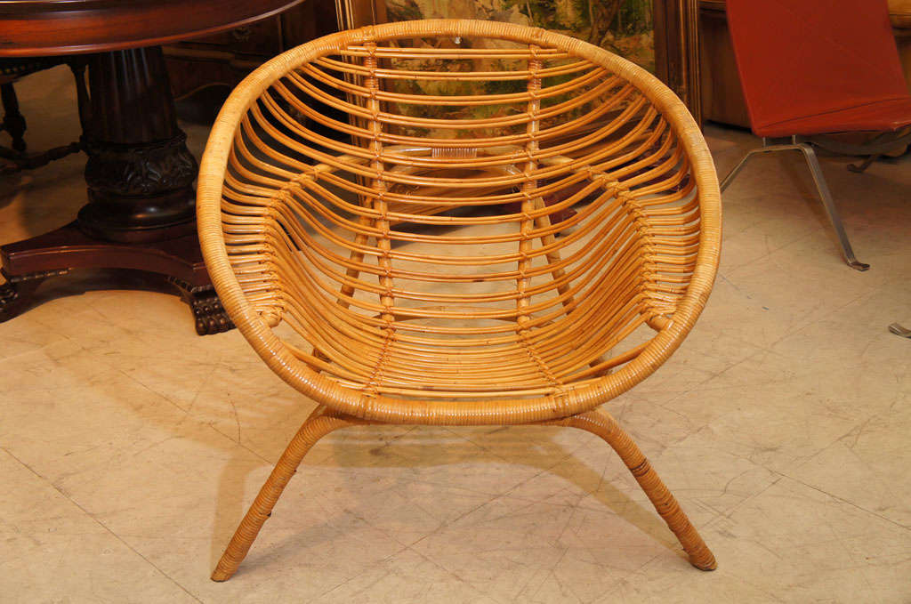 Round Bamboo Chair image 2