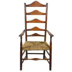 Antique Ladder Back Chairs Value Swivel Chair Grey 18 Th C Windsor With Rush Seat At 1stdibs