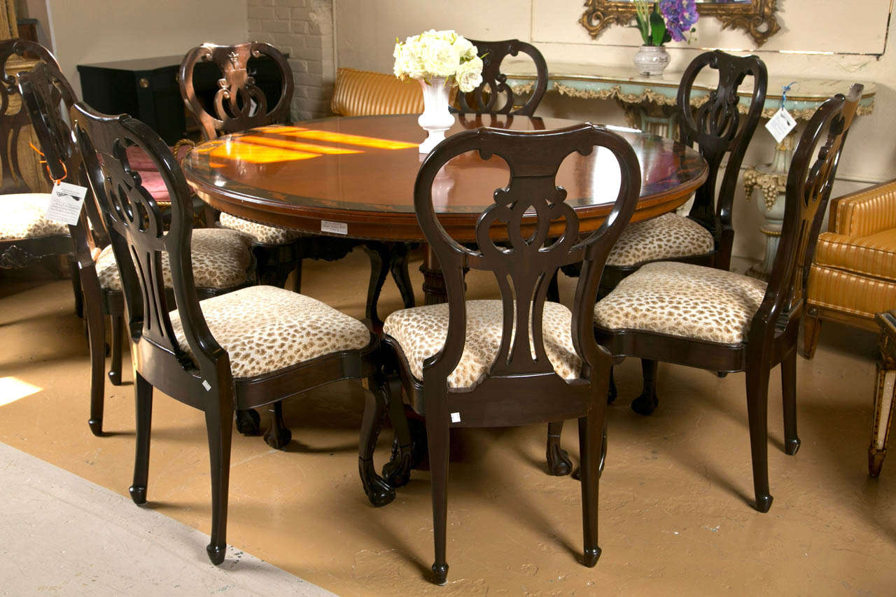 revolving chair base price in india dark brown dining covers circular centre table maitland smith at