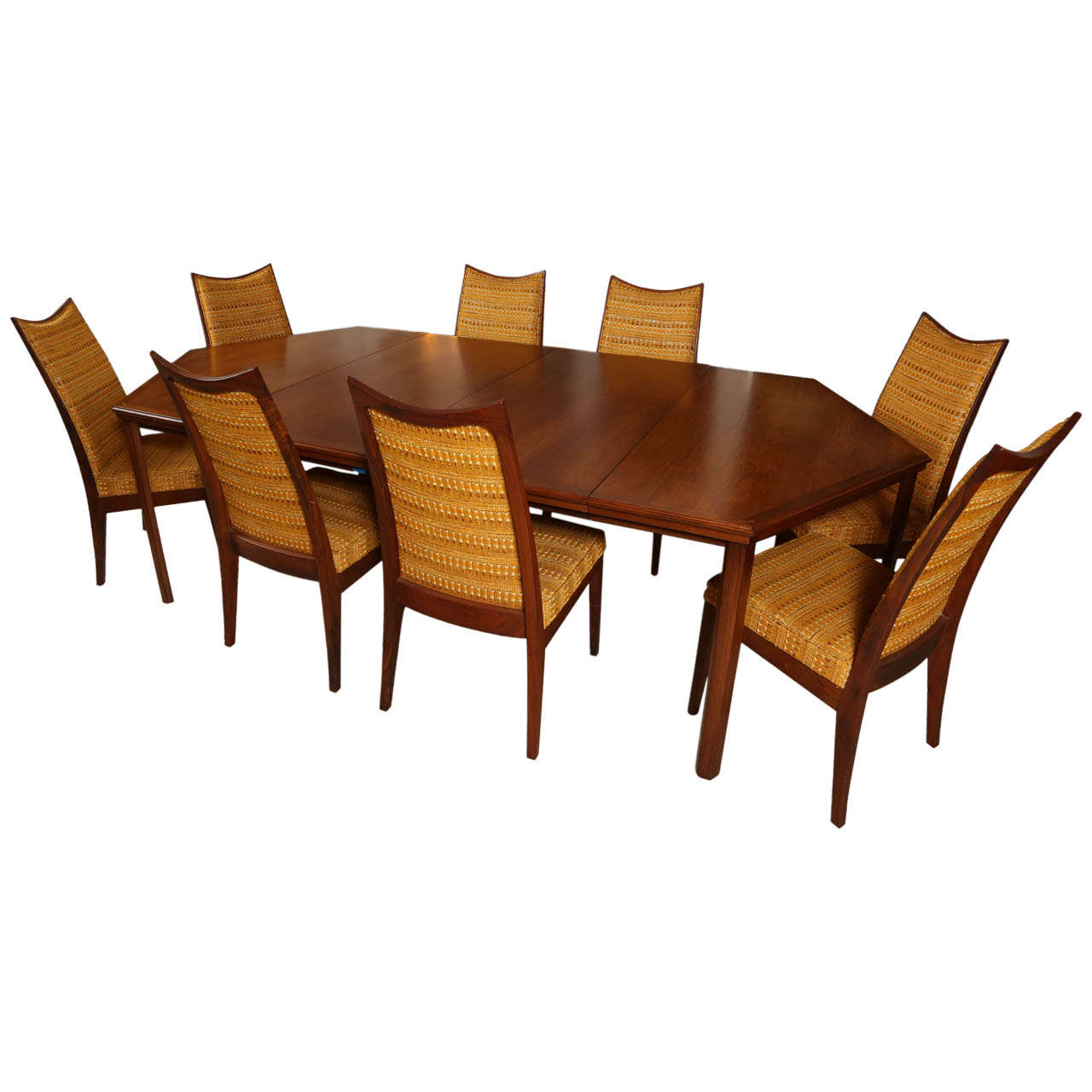 custom restaurant tables and chairs light wood john kapel hexagonal dining table set of eight