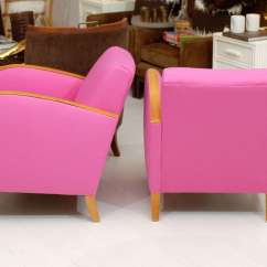 Pink Club Chair Baby Alive Potty Hot Deco Chairs At 1stdibs
