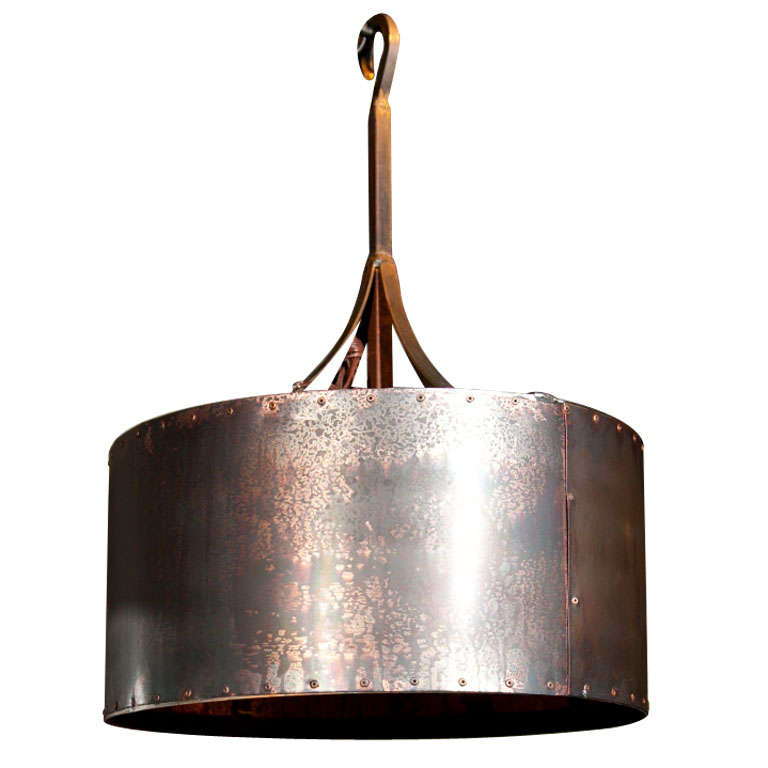 Reproduction Copper Drum Light at 1stdibs