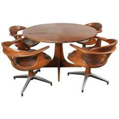 Chair For Dining Table Chevalier Chairs Rentals Heywood Wakefield With Four Captain At