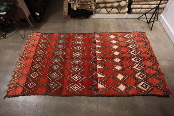 Vintage Moroccan Red Tribal Rug 1stdibs