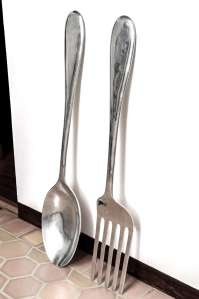 Large Fork and Spoon Wall Hanging image 3