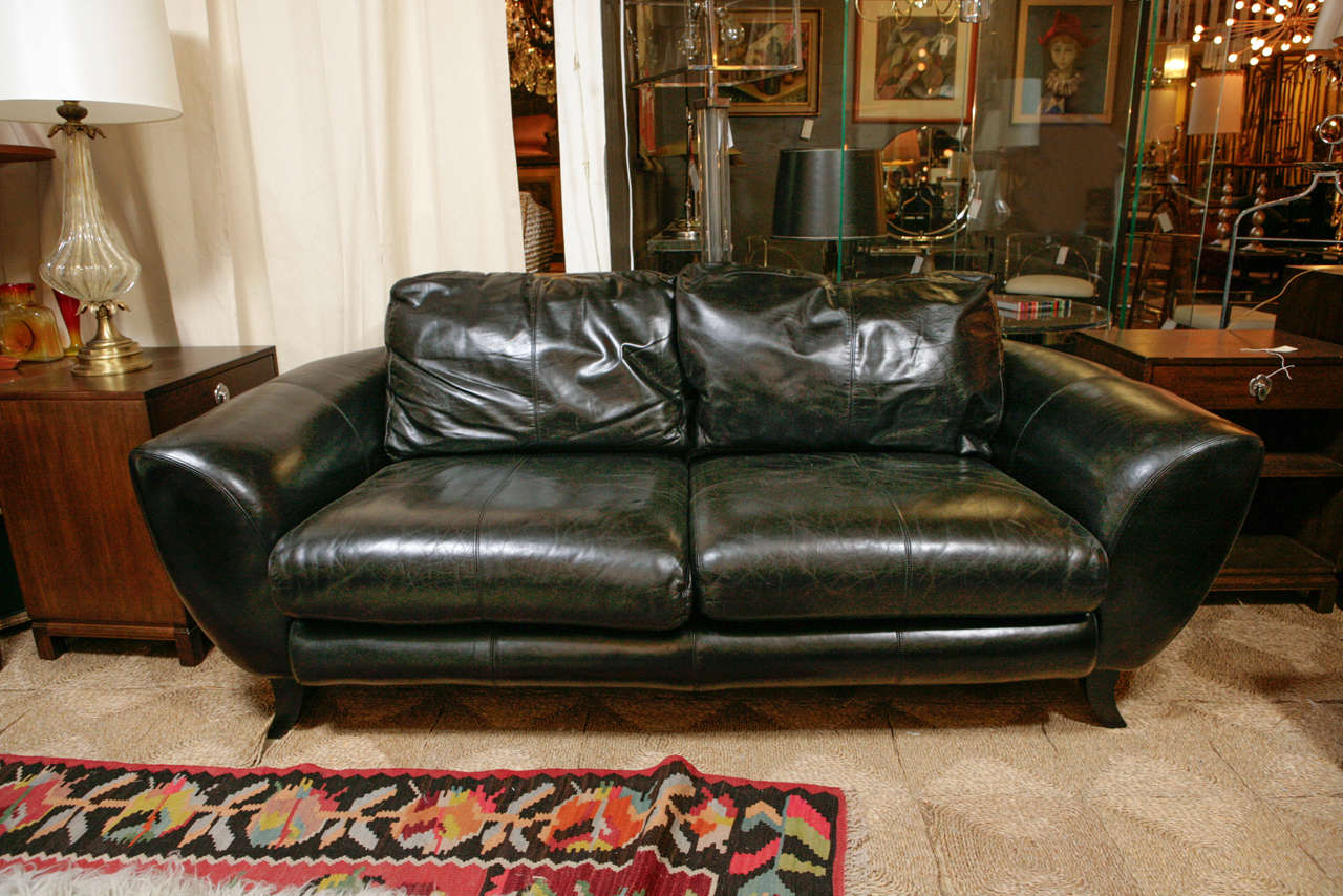 drexel heritage sofa prices queen bed sheet vintage black leather by at 1stdibs