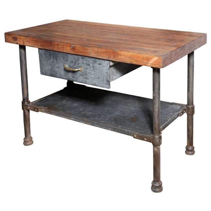 Vintage Industrial Kitchen Work Table 1stdibs