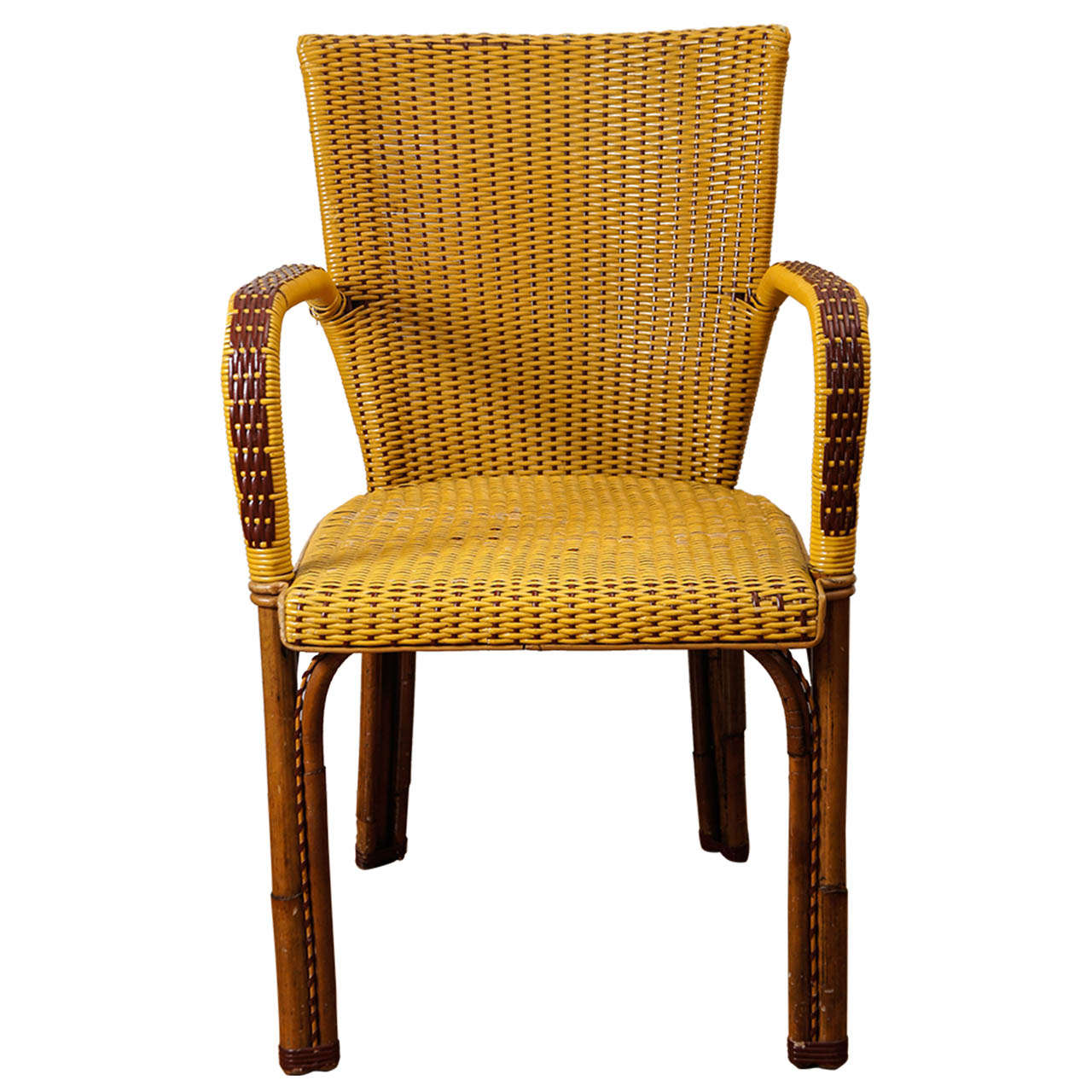 french rattan bistro chairs chair covers plymouth wicker at 1stdibs