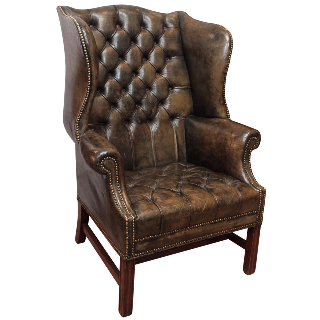 Vintage Chairs Antique English Wing Chair At 1stdibs