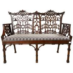 Chinese Chippendale Chairs Black Armchair Covers Antique Settee Canape At 1stdibs