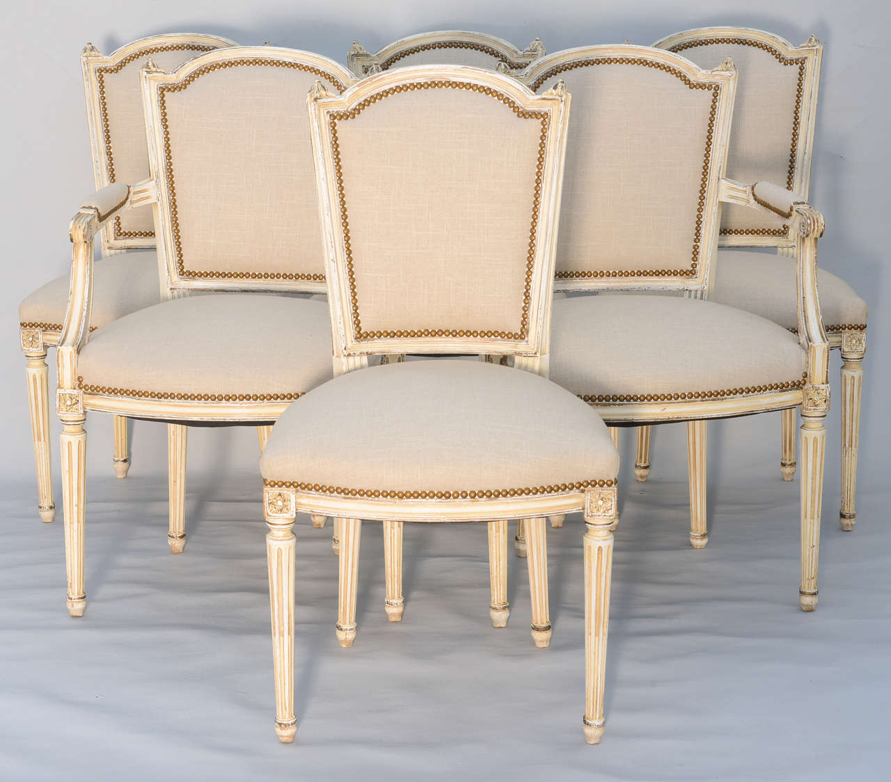 French Dining Chairs Set Of Six French Dining Room Louis Xvi Chairs At 1stdibs