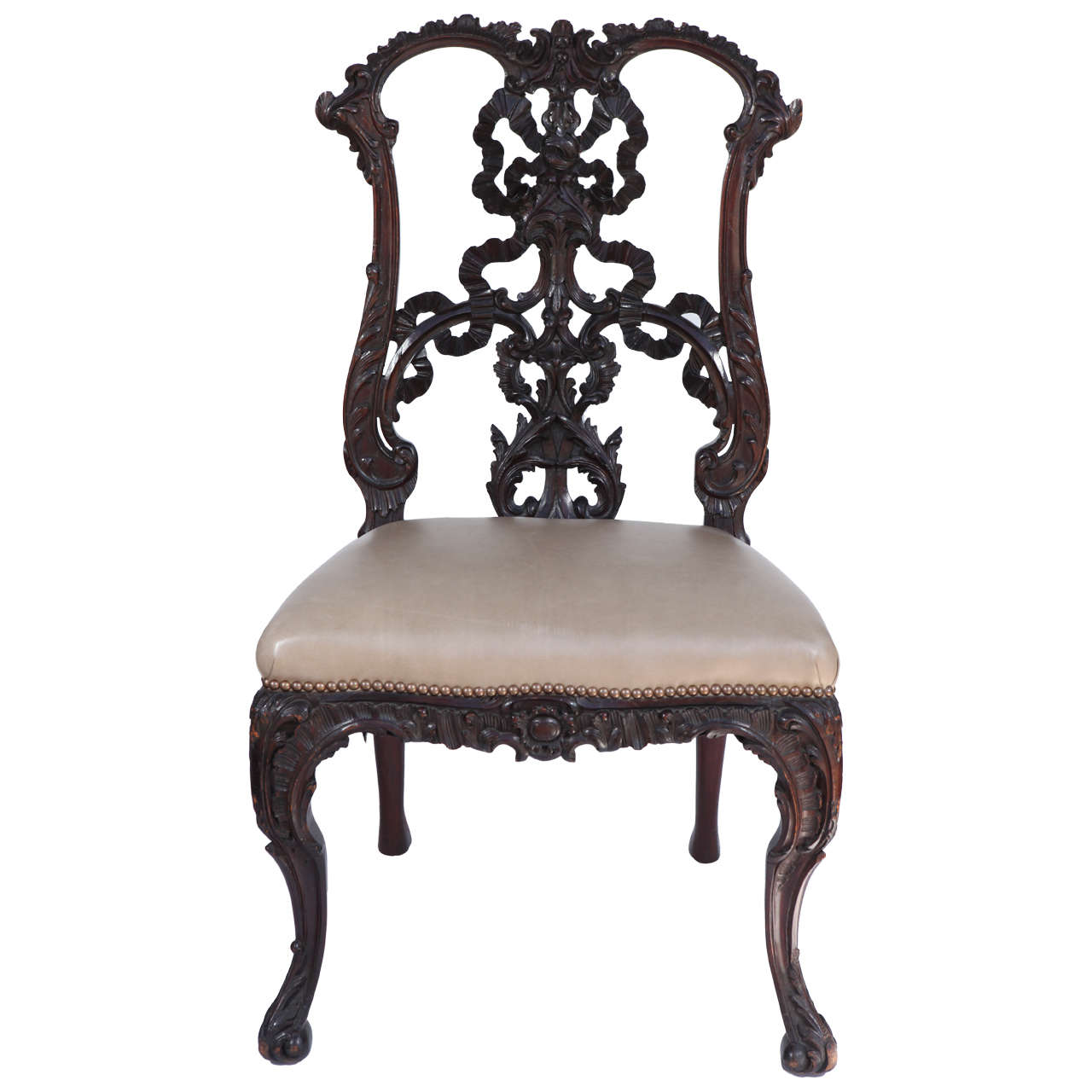chinese chippendale chairs purple velvet chair covers single 19th century side at 1stdibs