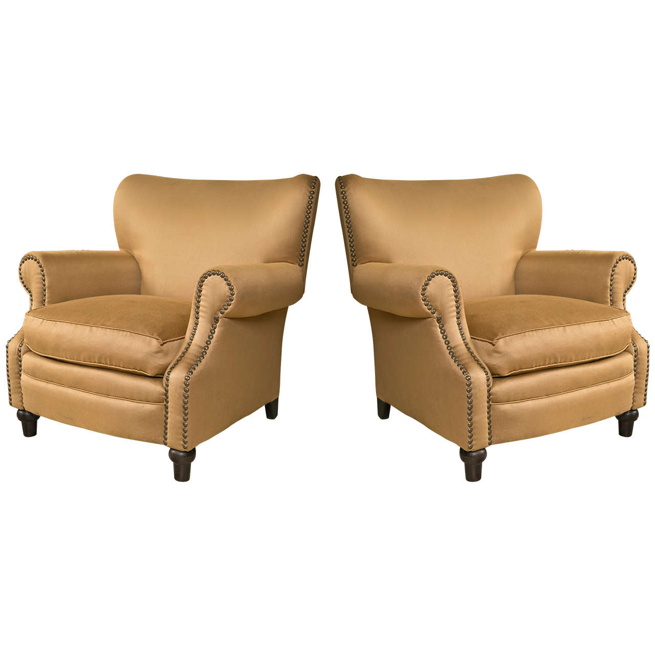 large lounge chair ergonomic wirecutter pair of overstuffed oversized arm chairs at 1stdibs