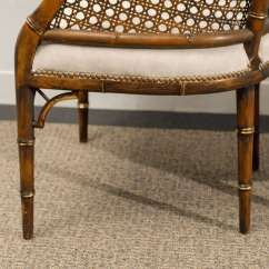 Bamboo Cane Back Chairs Baby Trend High Chair Target Beautiful Vintage Faux Barrel 4