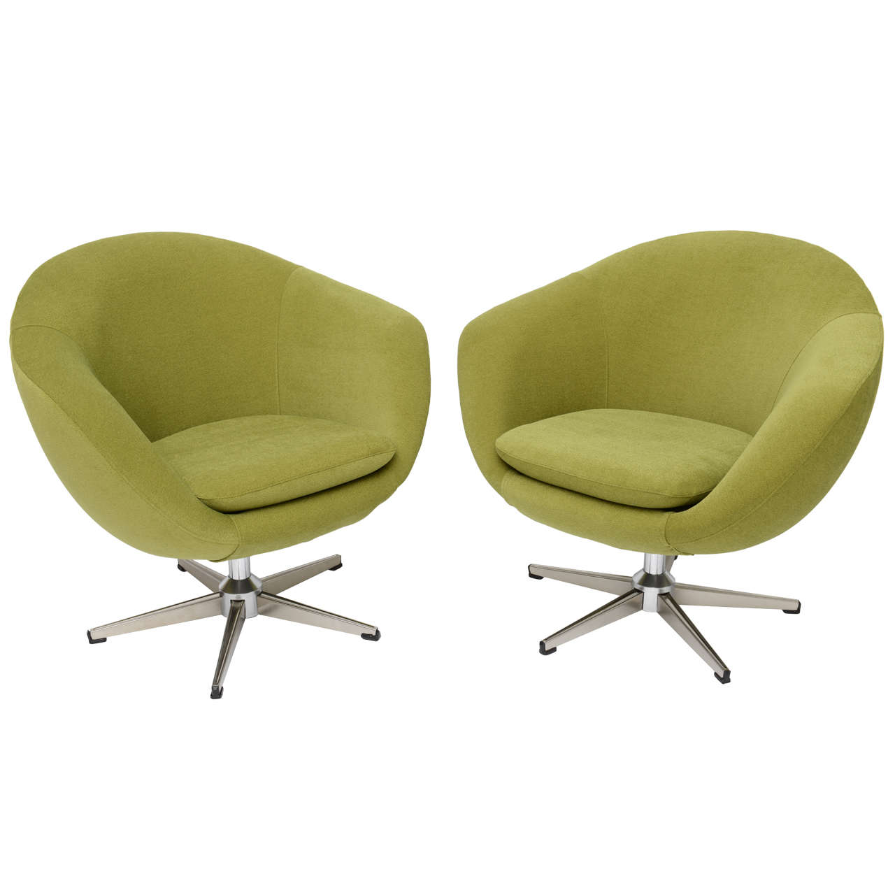 swivel chair egg ikea faux leather classic swedish overman chairs at 1stdibs