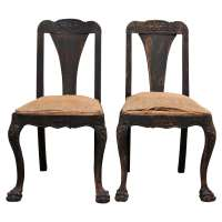 Pair of Baroque Hall Chairs, Late 18th c. at 1stdibs