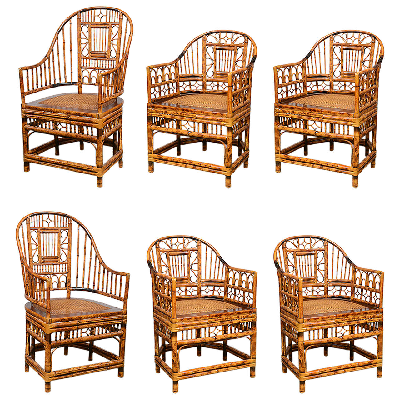 chinese chippendale chairs revolving chair ikea superb set of four bamboo vintage