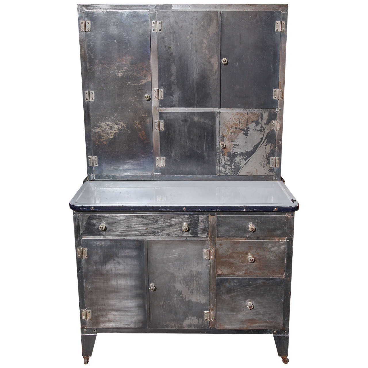 1930s Packer Rolling Metal Hoosier Cabinet At 1stdibs