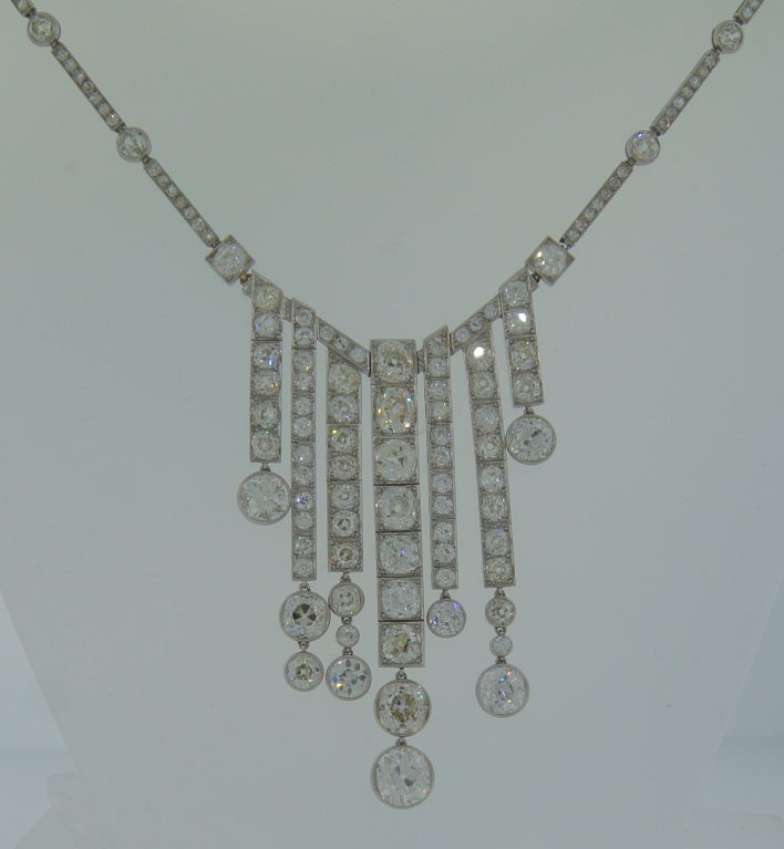 Important French c. 1920's Art Deco Diamond and Platinum