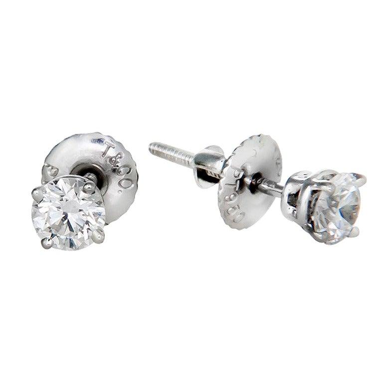 Diamond Earrings: Tiffany Diamond Stud Earrings Cost