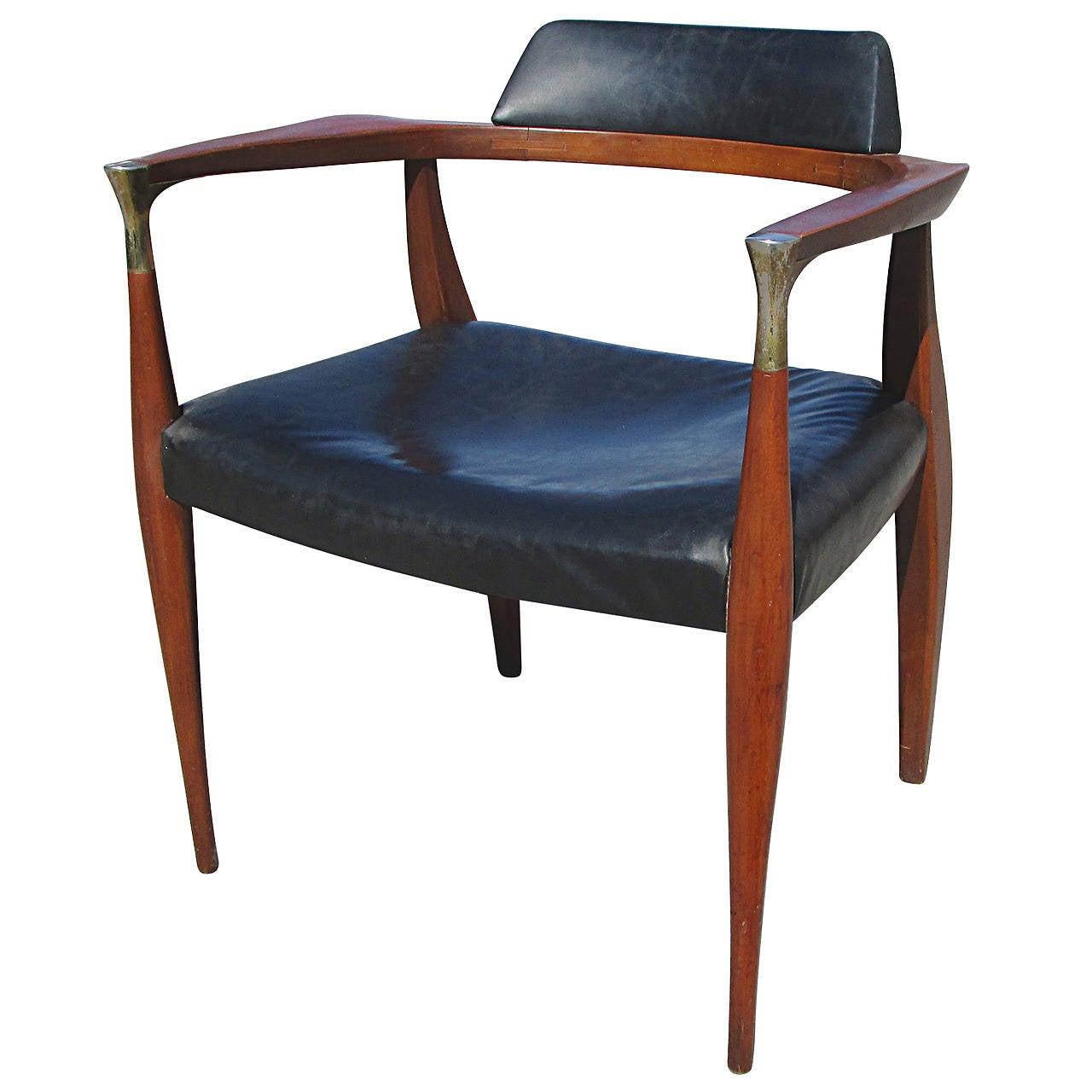 desk chair utm gold sashes teak by ib kofod larsen at 1stdibs