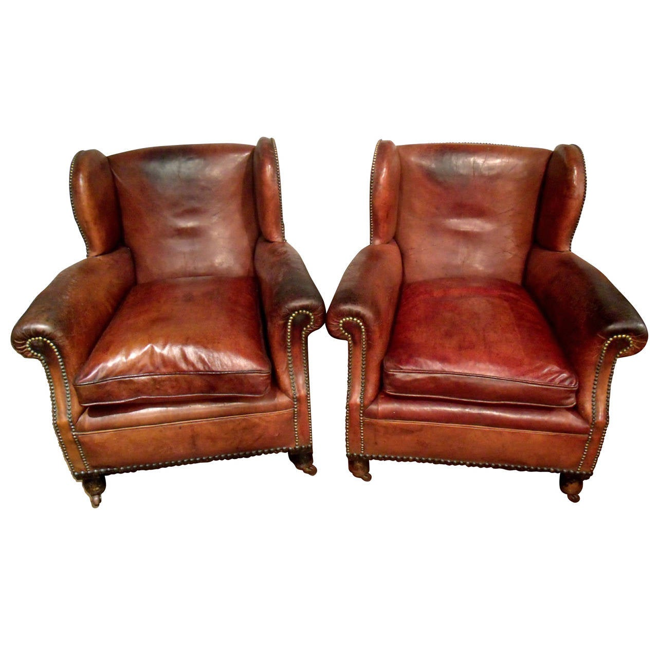 gentlemans chair office seat covers canada pair of victorian gentlemen 39s leather club chairs at 1stdibs