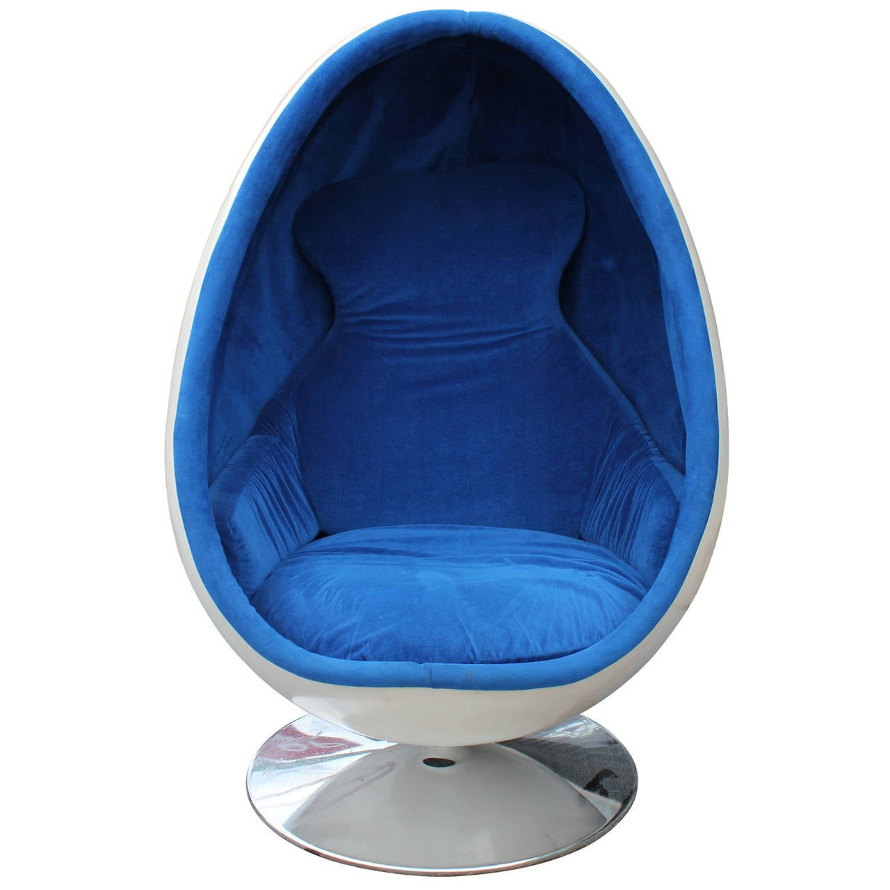 blue egg chair swing indoor ovalia by thor larsen image 2